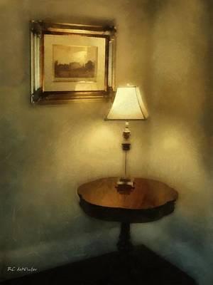 Lamplight Painting - Corner Glow by RC deWinter
