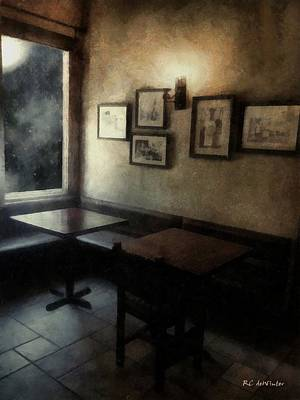 Night Lamp Painting - Corner In Moonlight And Blue by RC deWinter