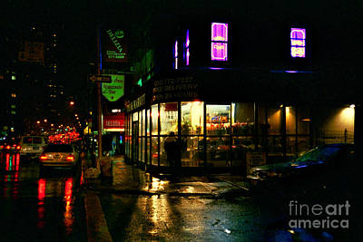 Photograph - Corner In The Rain - Large by Miriam Danar