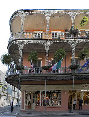 Photograph - Corner Iron Filigree Balconies by Gregory Scott