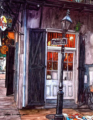Pat O Briens Painting - Corner Of Barracks Street by John Boles