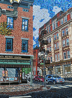 Corner Of Dietz And Main Oneonta Ny Art Print by Micah Mullen