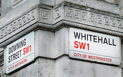 Photograph - Corner Of Downing Street And Whitehall, London by Alexandre Rotenberg