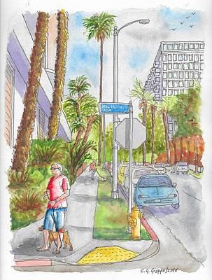 Corner Of Hawthorn And Formosa In Hollywood, California Original by Carlos G Groppa