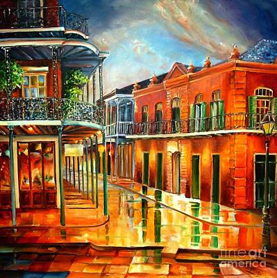 New Orleans Oil Painting - Corner Of Jackson Square by Diane Millsap