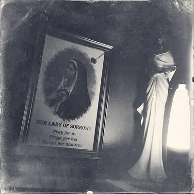Egyptian Goddess Isis Photograph - Corner Of Sorrows by Jennifer Kuehne