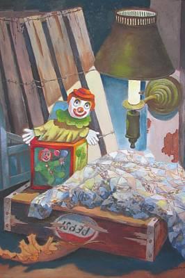 Painting - Corner Of The Attic by Tony Caviston