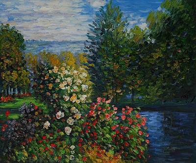 Art Print featuring the painting Corner Of The Garden At Montgeron by Claude Monet