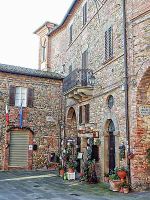 Photograph - Corner Of The Main Piazza Panicale by Dorothy Berry-Lound