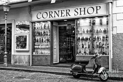 Photograph - Corner Shop In Sorrento by John Rizzuto
