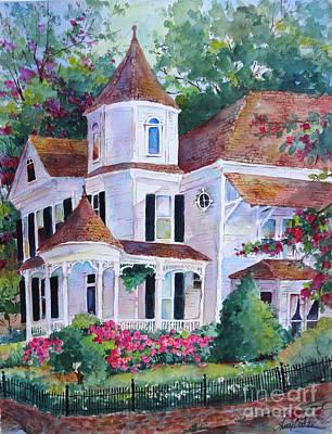 Natchez Painting - Corner Victorian by Sherri Crabtree