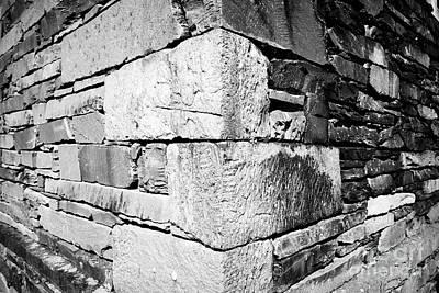 Ambleside Wall Art - Photograph - corner wall of building built of slate lakeland stone construction Ambleside lake district cumbria e by Joe Fox