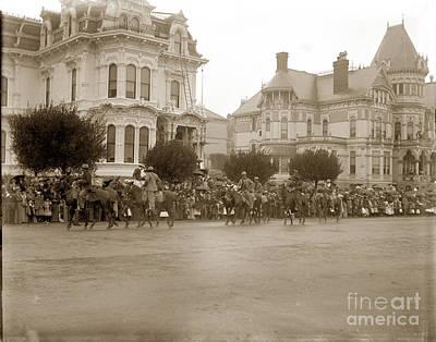 Photograph - Parade Passing Corner Clay And Van Ness Streets San Francisco Circa 1902 by California Views Mr Pat Hathaway Archives