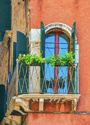 Photograph - Corner Window In Venice by Gary Slawsky