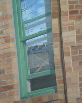 Painting - Corner Window by Suzn Art Memorial