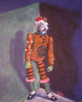 Cornered Marionette Strings Not Included Art Print by Dennis Tawes