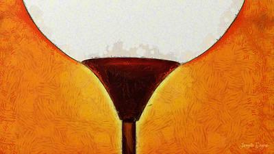 Beverage Digital Art - Cornerlamp - Da by Leonardo Digenio