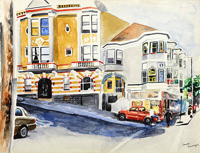 The 60s Painting - Cornerstore On Haight, San Francisco, Ca by Aaron Eminger