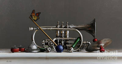 Cornet Painting - Cornet by Larry Preston