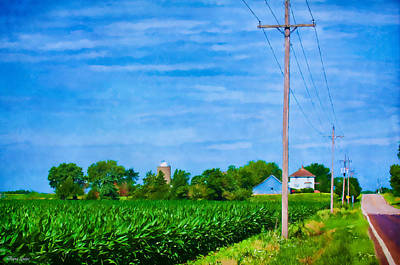 Photograph - Cornfield And Country Road by Anna Louise