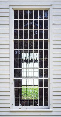Photograph - Cornfield Through Church Windows by Guy Whiteley