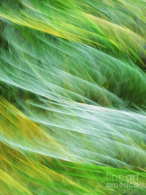 Digital Art - Cornfield Tornado Abstract by Andee Design
