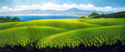 Painting - Cornfield by Yoo Choong Yeul