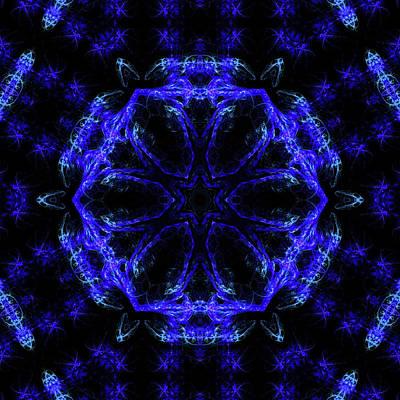Space Digital Art - Cornflower Mandala 9 by Julia Bagryanskaya