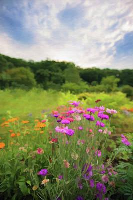 The Beauty Of Nature Mixed Media - Cornflower Mood by Mariia Kalinichenko