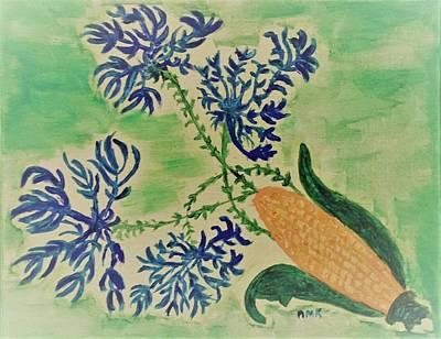 Million Dollar Art Painting - Cornflower by Nannette Kelly