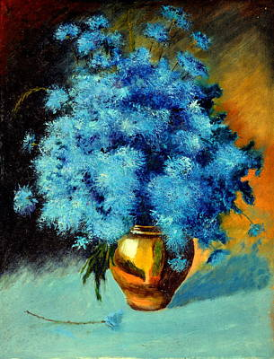 Painting - Cornflowers by Henryk Gorecki