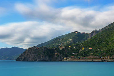 Print featuring the photograph Corniglia Cinque Terre Italy by Brad Scott
