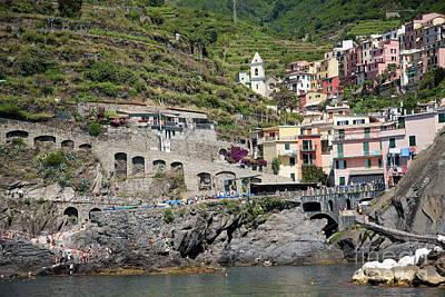 Photograph - Corniglia In The Cinque Terra by Brenda Kean