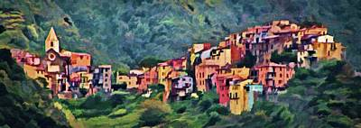 Digital Art - Corniglia by Jeffrey Kolker