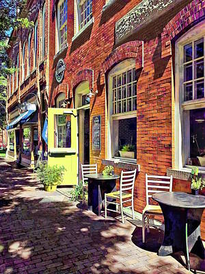 Photograph - Corning Ny - Restaurant With Open Door by Susan Savad