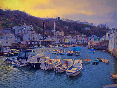 Photograph - Cornish Fishing Village by Paul Gulliver