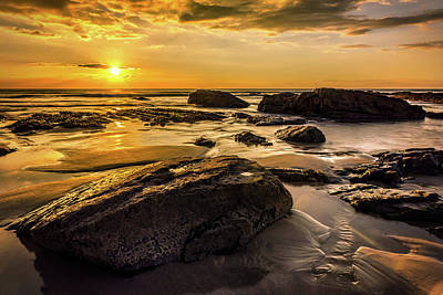 Photograph - Cornish Sunset by Nick Bywater