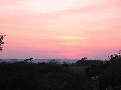 Cornish Sunset Art Print by Tony Payne