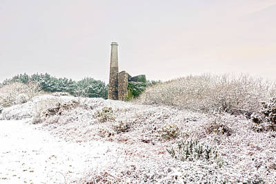 Photograph - Cornish Tin Mine In The Snow by Terri Waters