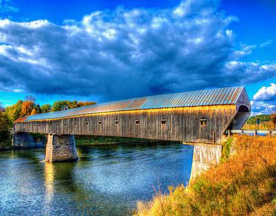 Photograph - Cornish Windsor Covered Bridge 3546 by Jeff Stallard