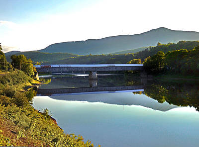 Photograph - Cornish Windsor Covered Bridge  by Nancy Griswold