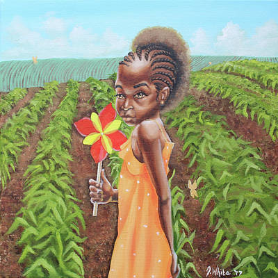 Painting - Cornrows by Jerome White