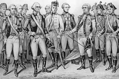 Drawing - Cornwallis Surrenders At Yorktown by American School