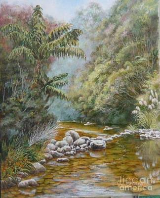 Coromandel Creek Art Print by Val Stokes