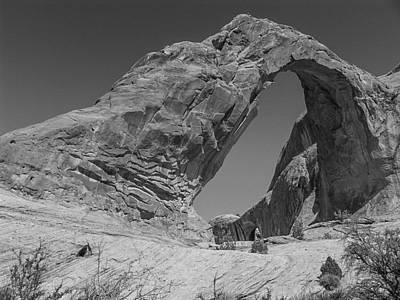 Photograph - Corona Arch Bw by Michael Damiani