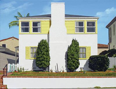 Michael Ward Painting - Corona Del Mar House by Michael Ward