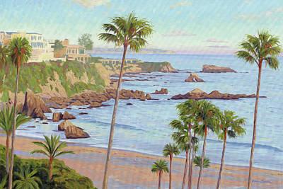 Painting - Corona Del Mar Vista by Steve Simon