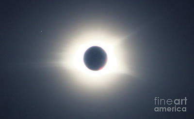Photograph - Corona Eclipse With Mecury by Rick Lipscomb
