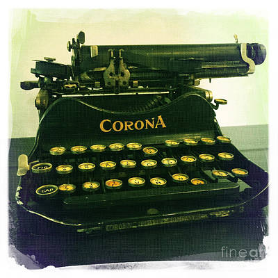 Photograph - Corona Typewriter by Nina Prommer