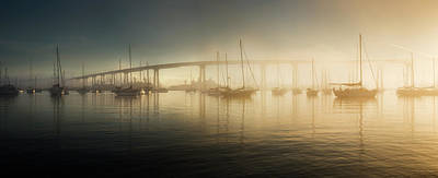 Photograph - Coronado Boats And Fog by William Dunigan